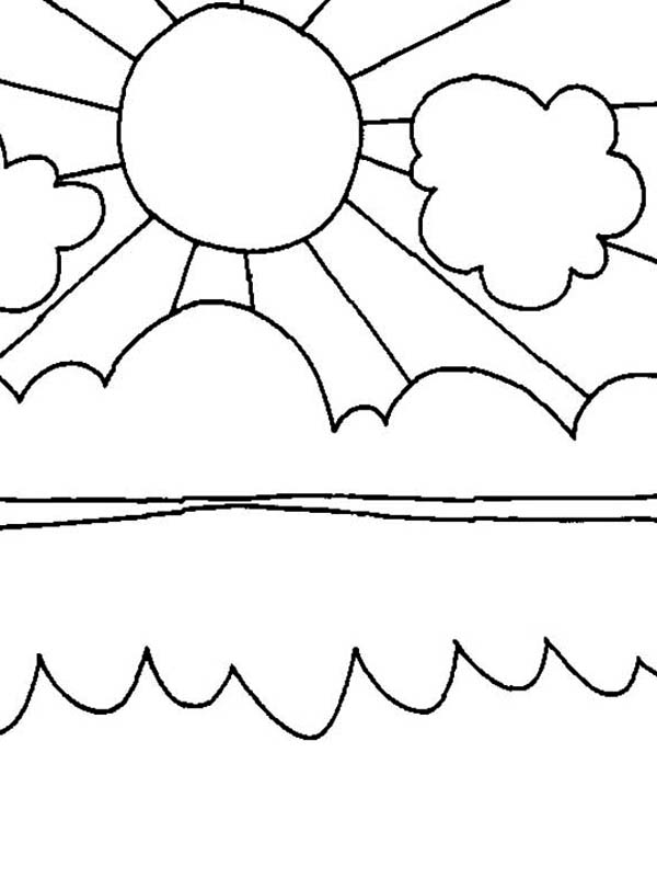 How To Color Sun Shiny Day On Summertime Coloring Page Toodsy Color