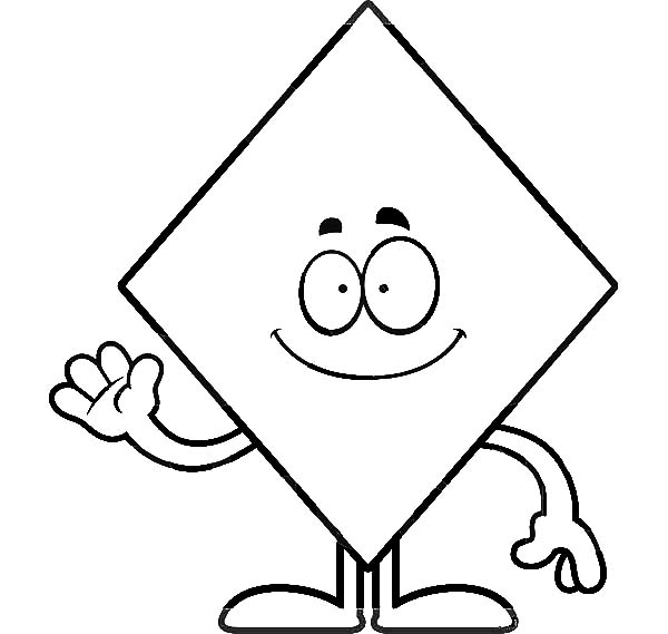 - How To Color Diamond Shape Waving Hand Coloring Pages : TOODSY COLOR