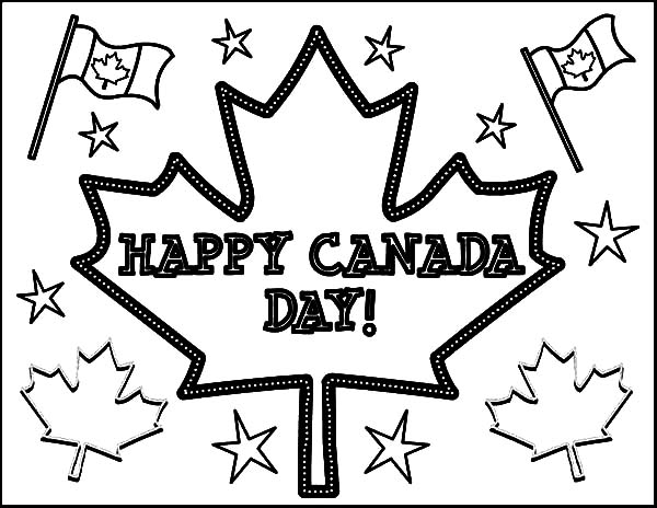 How To Color Joyful Celebration On Canada Day Coloring Pages Toodsy Color